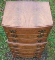 Bowfront Light Mahogany Chest on Chest